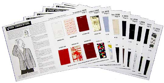 Vogue Fabrics By Mail - Fashion fabric catalog